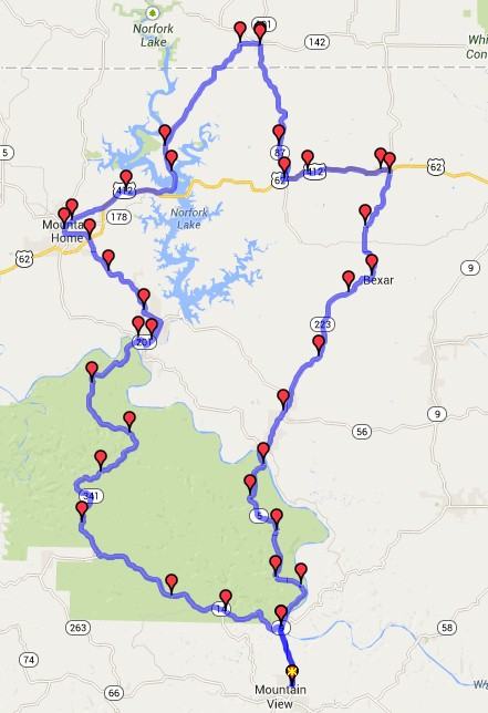 Ride – The Ozark National Forest (Northern Loop) | XS650 Society